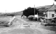 Holywell Bay, entrance to Penhale Camp c1960