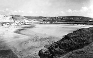Holywell Bay, the Sands 1931