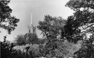 Hornchurch, St Andrew's Church From The Dell c.1950