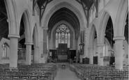 Hunstanton, St Edmund's Church Interior 1921
