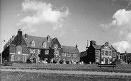 Hunstanton, the Green and Town Hall c1955