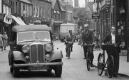 Huntingdon, Rover Car in the High Street c1955