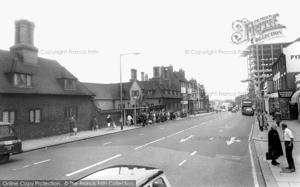 Ilford, The High Road And Old Houses c.1965