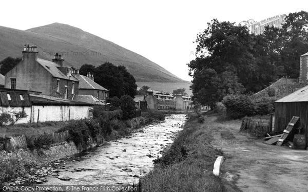 Innerleithen, Leithen Water c.1955