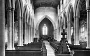 Kettering, Parish Church Interior 1922