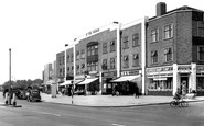 Kingsbury, Station Parade, Kingsbury Road c1950