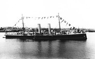 Kingstown, The Harbour, Hms Melampus 1897
