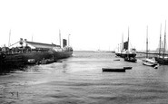 Kingstown, The Harbour, Mail Boats 1897