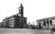 Kingstown, Town Hall And Railway Station 1897