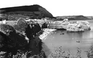 Ladram Bay, Beach And Rocks c.1949