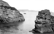 Ladram Bay, King William Rock c.1874