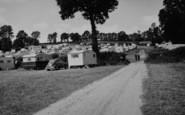 Ladram Bay, The Caravan Site c.1960