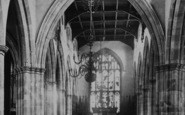 Lancaster, St Mary's Church, Interior c.1885