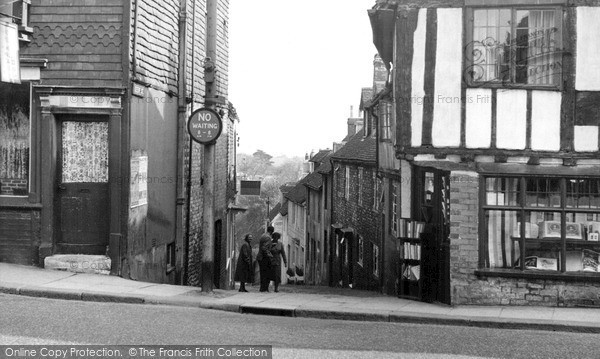 Lewes, Keere Street c.1955