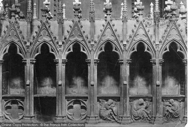 Lincoln, Cathedral, Easter Sepulchre, Founders Tomb c.1879