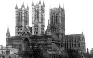 Lincoln, Cathedral, south west c1879