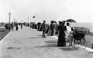 Littlehampton, Parade And Beach 1895