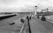 Littlehampton, River Arun From The Pier c.1960
