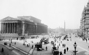 Liverpool, Lime Street And St George's Hall And Plateau 1890