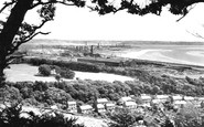 Llanelli, from Stradey Woods 1957