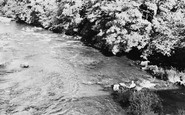 Llangynidr, Trout Fishing on the River Usk c1960