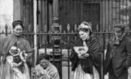 London, Covent Garden Flower Sellers 1877