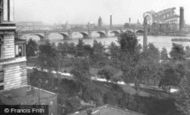 London, Old Waterloo Bridge And Shot Tower From The Adelphi 1902