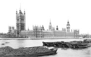 London, The Houses Of Parliament c.1880