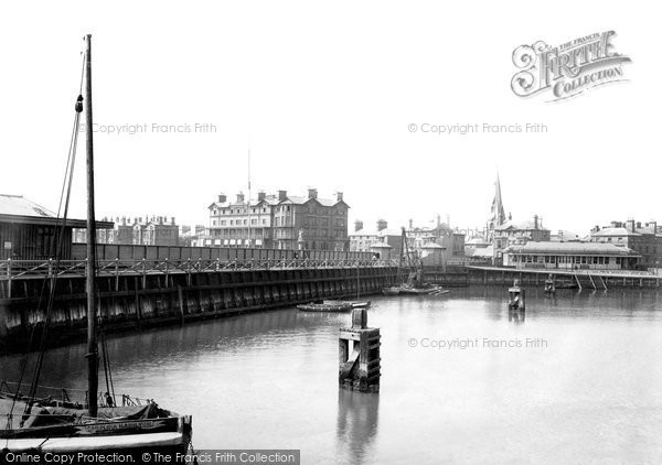 Lowestoft, View From The Jetty 1890