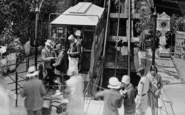 Lynmouth, People At The Lift Station 1929
