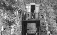 Lynmouth, the Cliff Railway c1955