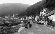 Lynmouth, View From Harbour Wall c.1955