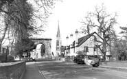 Marlow, All Saints Church And Bridge c.1955