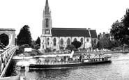 Marlow, All Saints Church And Pleasure Boat c.1955