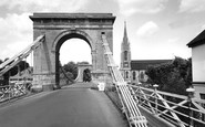 Marlow, Bridge And All Saints Church c.1955