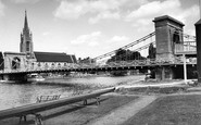 Marlow, The Bridge And All Saints Church c.1960