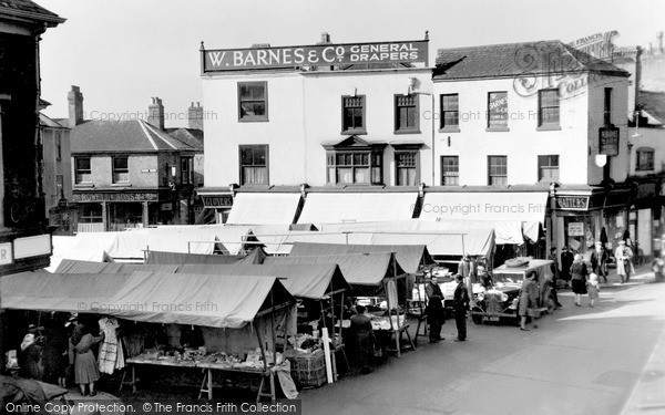 Melton Mowbray, Market Place c.1950