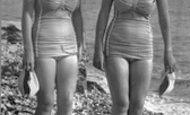 Mevagissey, Bathing Girls c.1955