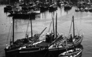 Mevagissey, Harbour, Boats 1935