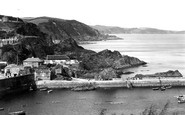 Mevagissey, The Quay And The Cliffs c.1955