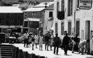 Mevagissey, Tourists On The Quayside c.1965