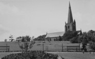Millom, The Park And Church c.1955