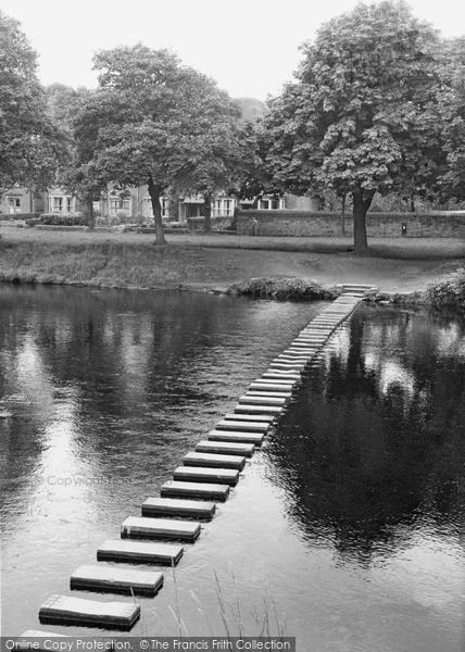 Morpeth, The Stepping Stones c.1955