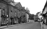 Nettlebed, the Bull Hotel and High Street c1955