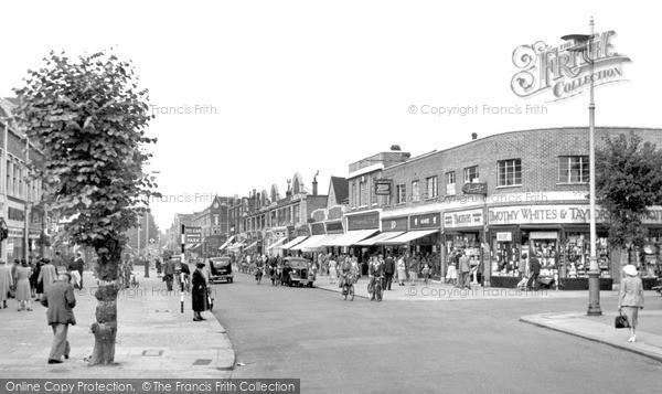 New Malden, High Street c.1955