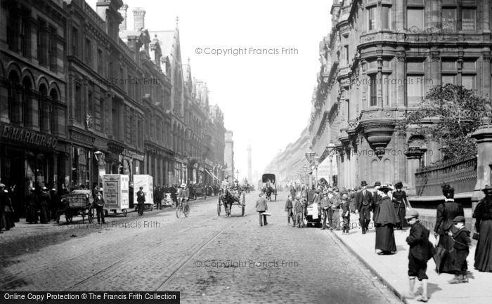 Newcastle Upon Tyne Grainger Street 1900 Francis Frith