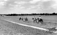 Newmarket, Racehorses Exercising, Bury-Side c.1960