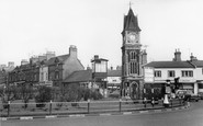 Newmarket, The Roundabout From Snailwell Road c.1960