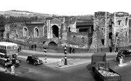 Newport, Castle c.1955