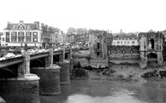 Newport, The Bridge And Castle c.1955